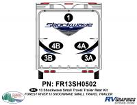 Shockwave - 2013 Shockwave Small TT - 2013 Shockwave Sm Travel Trailer Rear Graphics Kit