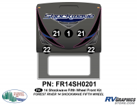 Shockwave - 2014 Shockwave FW-Fifth Wheel - 2014 Shockwave Fifth Wheel Front Graphics Kit