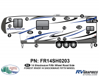 Shockwave - 2014 Shockwave FW-Fifth Wheel - 2014 Shockwave Fifth Wheel Left Side Graphics Kit