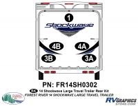 Shockwave - 2014 Shockwave Large TT - 2014 Shockwave Lg Travel Trailer Rear Graphics Kit