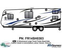 Shockwave - 2014 Shockwave Large TT - 2014 Shockwave Lg Travel Trailer Left Side Graphics Kit