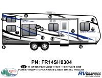 Shockwave - 2014 Shockwave Large TT - 2014 Shockwave Lg Travel Trailer Right Side Graphics Kit