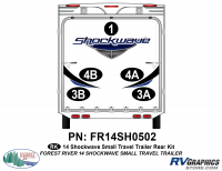 Shockwave - 2014 Shockwave Small TT - 2014 Shockwave Sm Travel Trailer Rear Graphics Kit