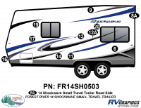 Shockwave - 2014 Shockwave Small TT - 2014 Shockwave Sm Travel Trailer Left Side Graphics Kit