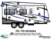 Shockwave - 2014 Shockwave Small TT - 2014 Shockwave Sm Travel Trailer Right Side Graphics Kit