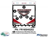 Shockwave - 2016 Shockwave FW-Fifth Wheel - 2016 Shockwave Fifth Wheel Rear Graphics Kit