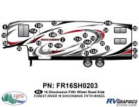 Shockwave - 2016 Shockwave FW-Fifth Wheel - 2016 Shockwave Fifth Wheel Left Side Graphics Kit