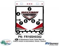 Shockwave - 2016 Shockwave TT-Travel Trailer - 2016 Shockwave Travel Trailer Rear Graphics Kit