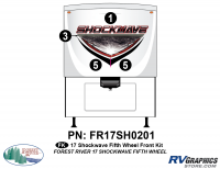 Shockwave - 2017 Shockwave FW-Fifth Wheel - 2017 Shockwave Fifth Wheel Front Graphics Kit