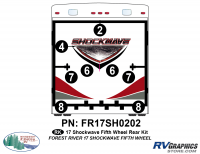 Shockwave - 2017 Shockwave FW-Fifth Wheel - 2017 Shockwave Fifth Wheel Rear Graphics Kit