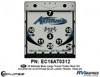 Attitude - 2016 Attitude Toyhauler Trailer Lg Blue - 2016 Blue Attitude Lg Travel Trailer Rear Graphics Kit