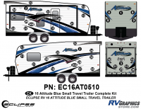 Attitude - 2016 Attitude Toyhauler Trailer Lg Blue - 2016 Blue Attitude Lg Travel Trailer Complete Graphics Kit