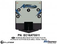 Attitude - 2016 Sm TT-Blue - 2016 Blue Attitude Sm Travel Trailer Front Graphics Kit