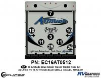 Attitude - 2016 Sm TT-Blue - 2016 Blue Attitude Sm Travel Trailer Rear Graphics Kit