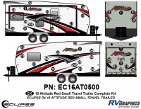 Attitude - 2016 Sm TT-Red - 2016 Red Attitude Sm Travel Trailer Complete Graphics Kit