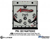 Attitude - 2016 Lg TT-Red - 2016 Red Attitude Lg Travel Trailer Rear Graphics Kit