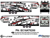 Attitude - 2016 FW-Fifth Wheel Red - 2016 Red Attitude FW Complete Graphics Kit