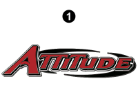 Attitude - 2016 FW-Fifth Wheel Red - Front Attitude Logo