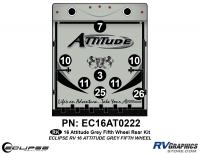 Attitude - 2016 FW-Fifth Wheel Gray - 2016 Gray on Gray Attitude FW Rear Graphics Kit