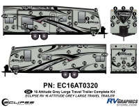 Attitude - 2016 Lg TT-Gray - 2016 Gray Attitude Lg Travel Trailer Complete Graphics Kit