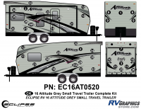 Attitude - 2016 Sm TT-Gray - 2016 Gray Attitude Sm Travel Trailer Complete Graphics Kit