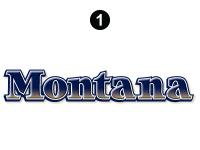 Montana - 2008-2009 Montana Fifth Wheel - Front Cap Montana Logo