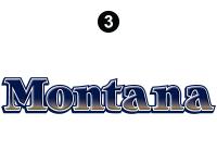 Montana - 2008-2009 Montana Fifth Wheel - Rear Montana Logo