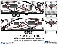 2013 Fuzion TT (Travel Trailer) Complete Graphics Kit