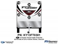 2013 Fuzion TT (Travel Trailer) Front Graphics Kit
