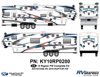 2010 Keystone Raptor FW-Fifth Wheel Complete Graphics Kit