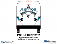 2010 Keystone Raptor FW-Fifth Wheel Rear Graphics Kit