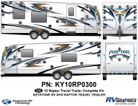 2010 Keystone Raptor TT-Travel Trailer Complete Graphics Kit
