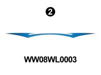 WideLite - 2008 WideLite TT-Travel Trailer-Blue - WideLite Front/Rear 'W'