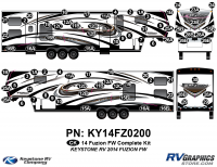 2014 Fuzion FW- Fifth Wheel Complete Graphics Kit
