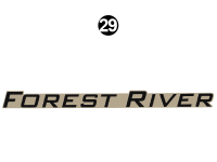 Wildwood - 2016 Wildwood TT-Travel Trailer - Large FOREST RIVER decal