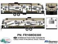 2016 Wildwood Travel Trailer Complete Graphics Kit