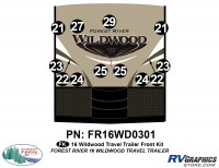Wildwood - 2016 Wildwood TT-Travel Trailer - 2016 Wildwood Travel Trailer Front Graphics Kit