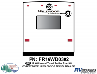 Wildwood - 2016 Wildwood TT-Travel Trailer - 2016 Wildwood Travel Trailer Rear Graphics Kit
