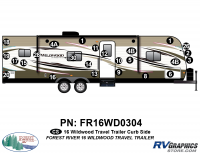 Wildwood - 2016 Wildwood TT-Travel Trailer - 2016 Wildwood Travel Trailer Curbside Graphics Kit
