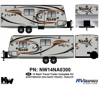 Nash - 2014-2015 Nash TT-Travel Trailer - 2014 Nash Travel Trailer Complete Graphics Kit