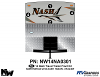 Nash - 2014-2015 Nash TT-Travel Trailer - 2014 Nash Travel Trailer Front Graphics Kit