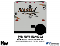 Nash - 2014-2015 Nash TT-Travel Trailer - 2014 Nash Travel Trailer Rear Graphics Kit