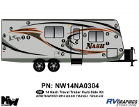 Nash - 2014-2015 Nash TT-Travel Trailer - 2014 Nash Travel Trailer Curbside Graphics Kit