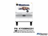 Montana - 2008-2009 Montana Fifth Wheel - 2008 Keystone Montana FW Front Graphics Kit