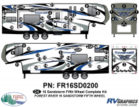 Sandstorm - 2016 Sandstorm FW-Fifth Wheel - 58 Piece 2016 Sandstorm FW Complete Graphics Kit