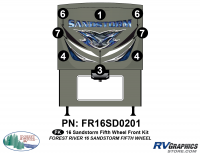 Sandstorm - 2016 Sandstorm FW-Fifth Wheel - 8 Piece 2016 Sandstorm FW Front Graphics Kit