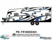 Sandstorm - 2016 Sandstorm TT-Travel Trailer - 19 Piece 2016 Sandstorm TT Roadside Graphics Kit