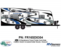 Sandstorm - 2016 Sandstorm TT-Travel Trailer - 19 Piece 2016 Sandstorm TT Curbside Graphics Kit