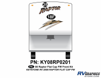 Raptor - 2008 Raptor FW-Fifth Wheel with Flat Cap - 2008 Raptor FW Flat Cap Front Kit