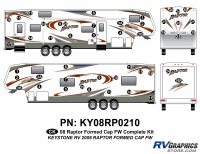 Raptor - 2008-2009 Raptor FW-Fifth Wheel with Formed Cap - 2008 Raptor FW Formed Cap Complete Kit